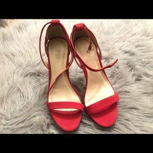 Charlotte Russe red 3 in. heels